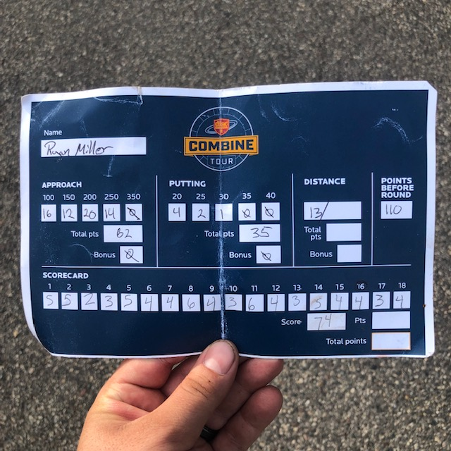 Discmania Combine scorecard for Caddie Disc Golf